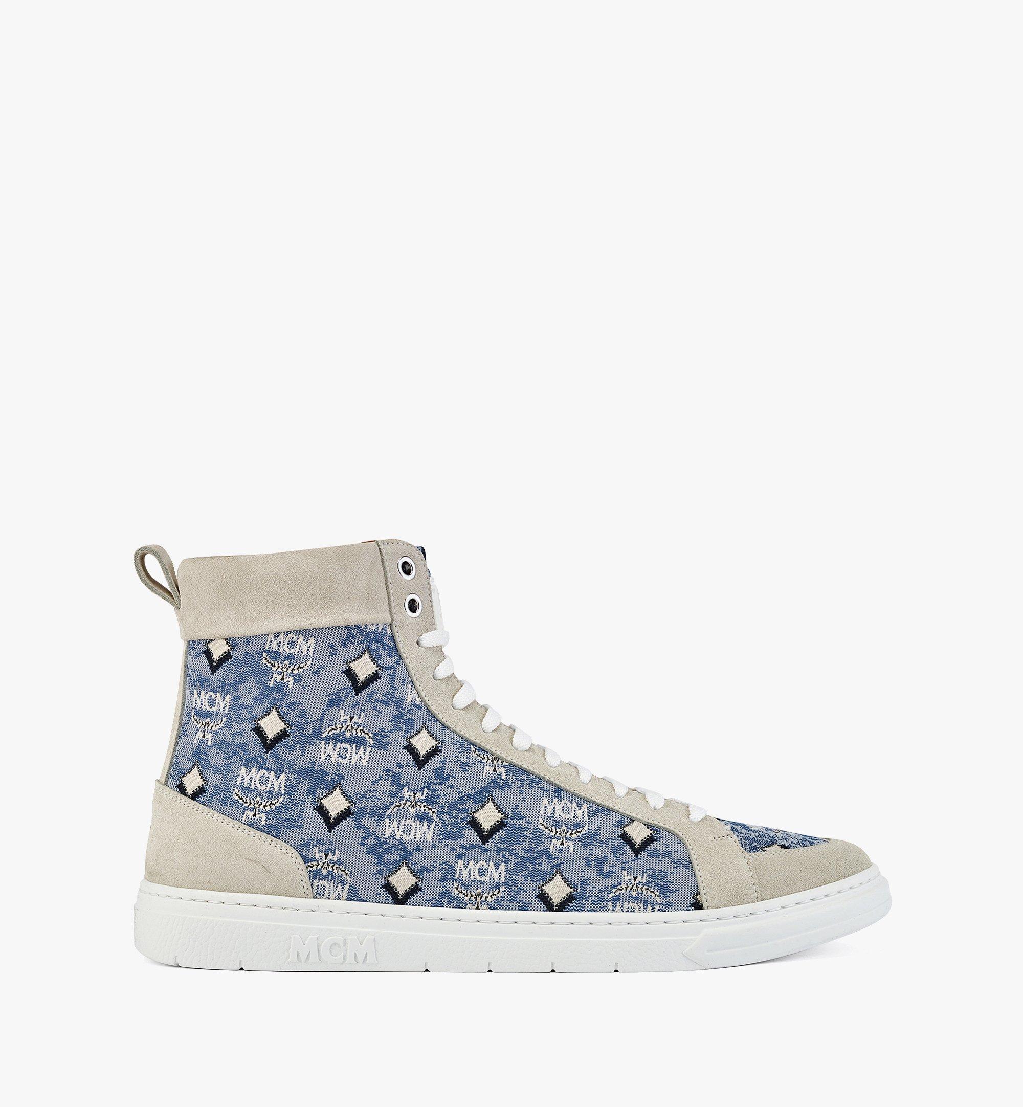 MCM Terrain High-Top-Sneaker aus Vintage-Jacquard mit Monogramm für Herren Blue MEXBATQ04LU041 Noch mehr sehen 3