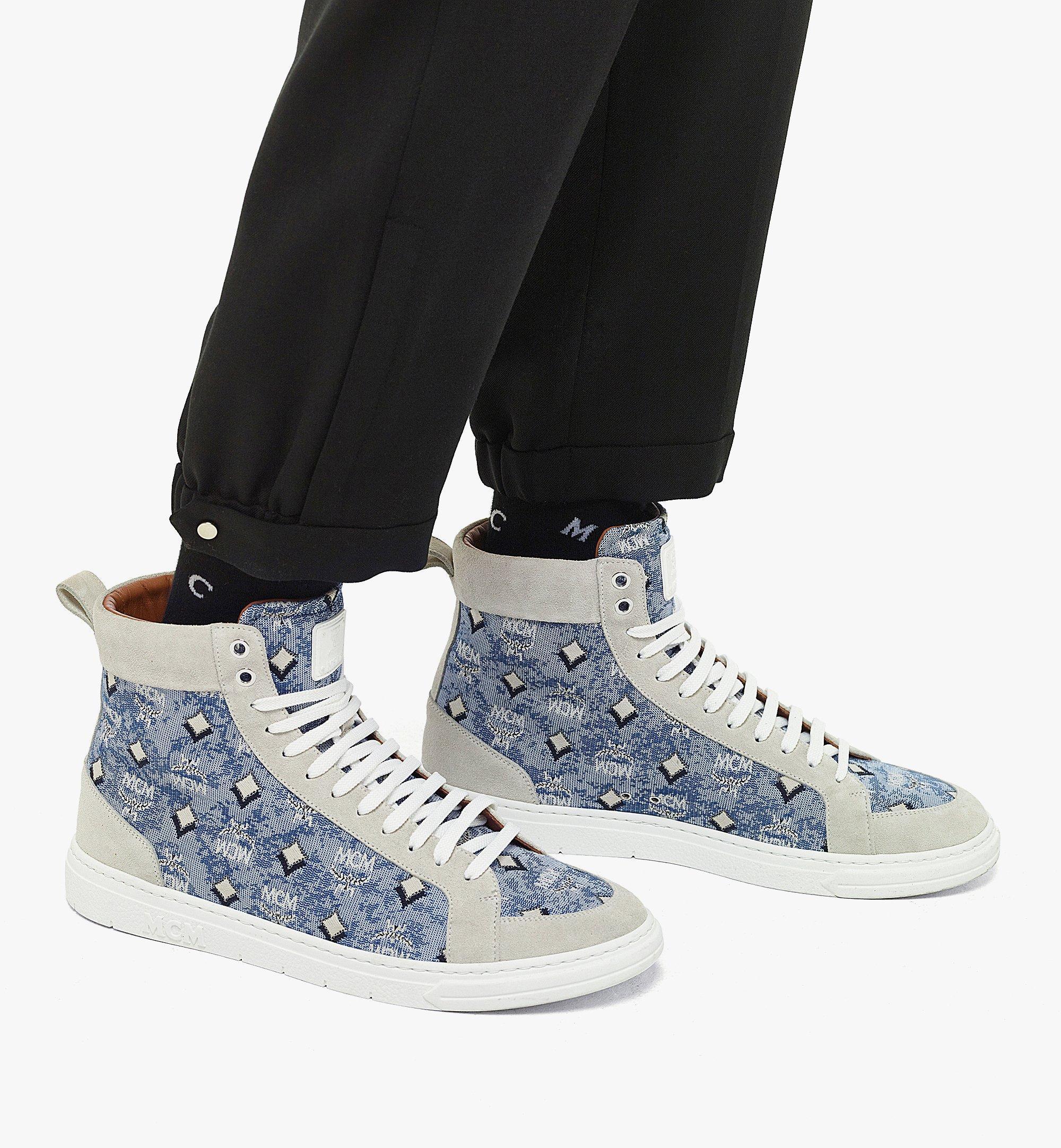 MCM Terrain High-Top-Sneaker aus Vintage-Jacquard mit Monogramm für Herren Blue MEXBATQ04LU041 Noch mehr sehen 2