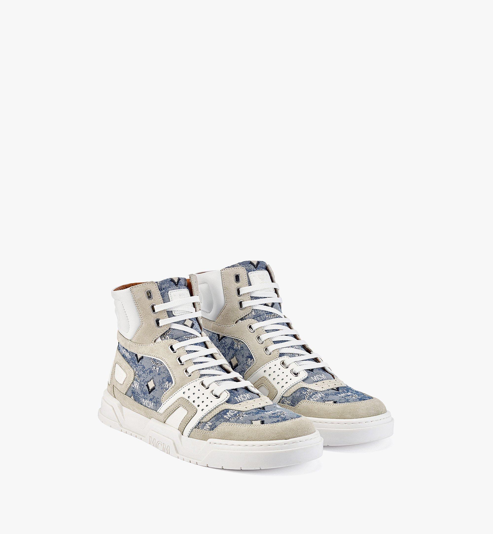 MCM Skyward High-Top-Sneaker aus Vintage-Jacquard mit Monogramm für Herren Blue MEXBATQ05LU041 Noch mehr sehen 1