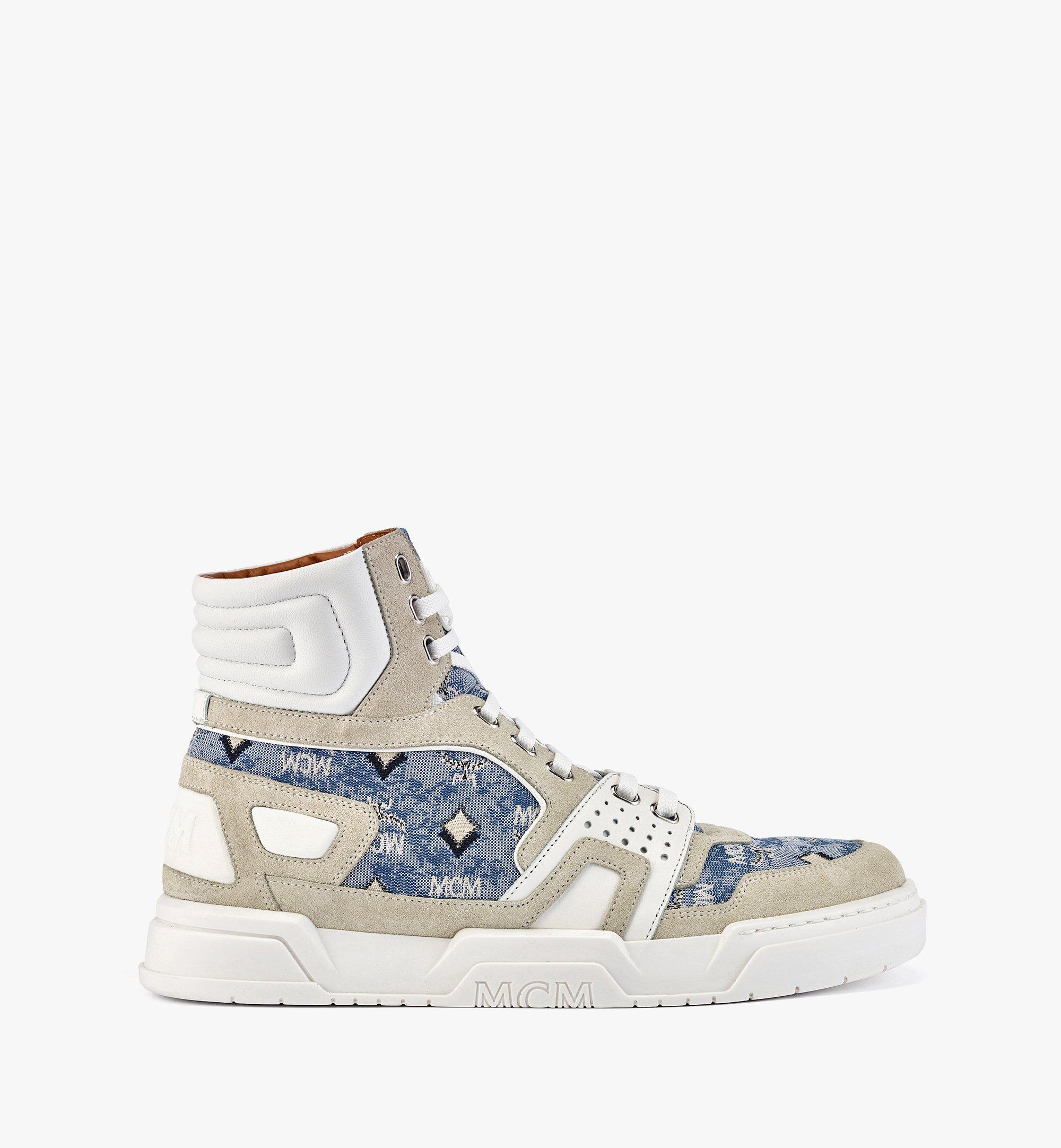 MCM Skyward High-Top-Sneaker aus Vintage-Jacquard mit Monogramm für Herren Blue MEXBATQ05LU041 Noch mehr sehen 3