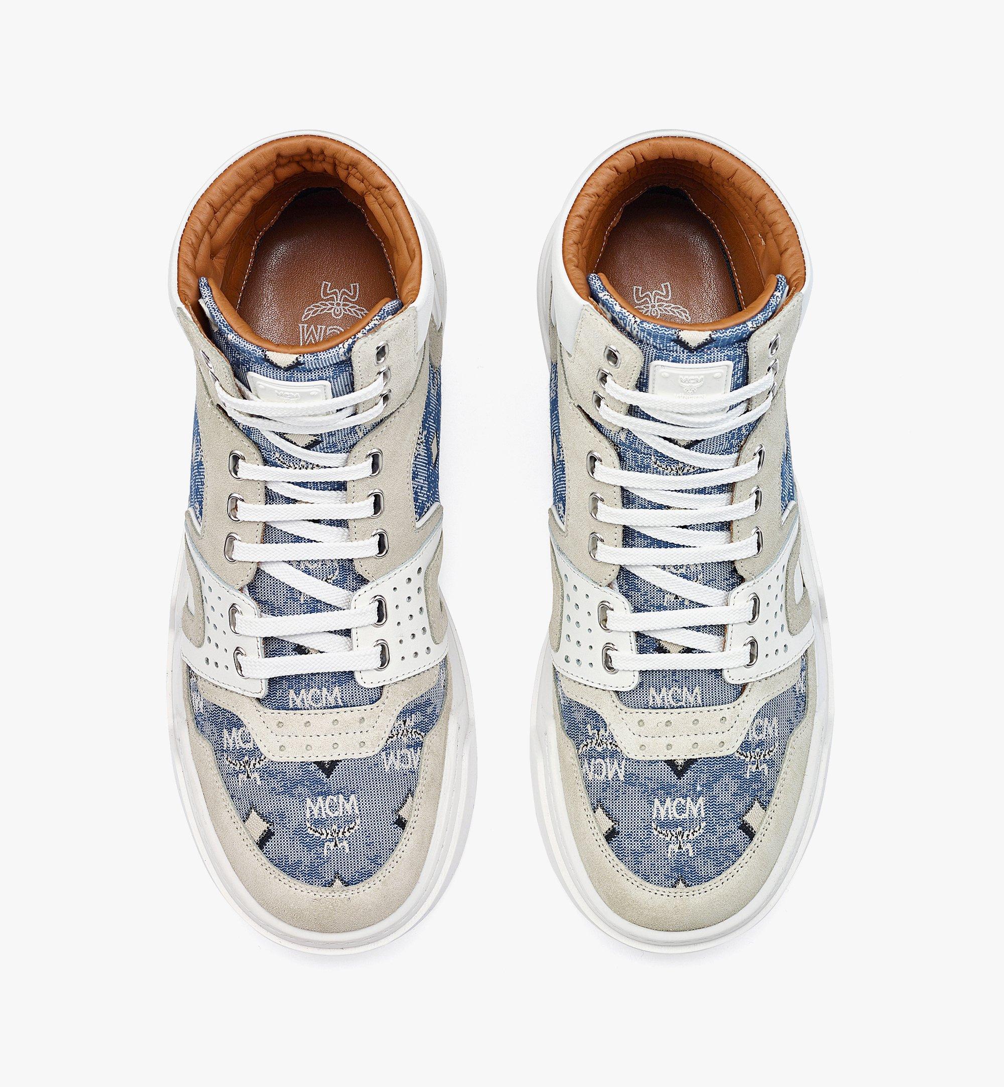MCM Skyward High-Top-Sneaker aus Vintage-Jacquard mit Monogramm für Herren Blue MEXBATQ05LU041 Noch mehr sehen 4