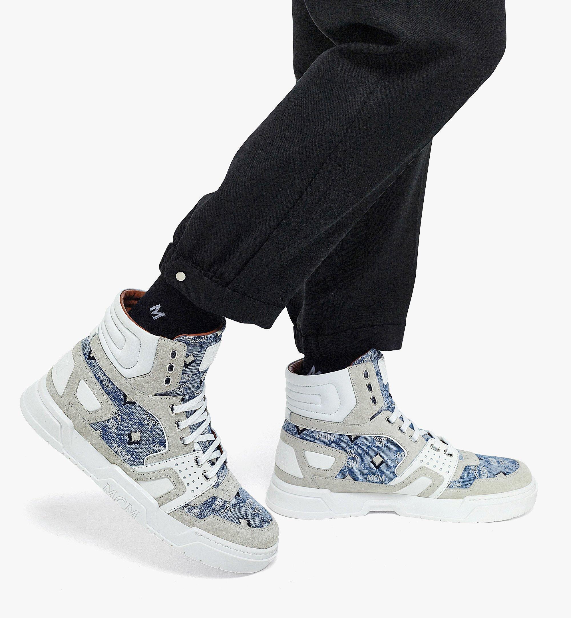 MCM Skyward High-Top-Sneaker aus Vintage-Jacquard mit Monogramm für Herren Blue MEXBATQ05LU041 Noch mehr sehen 2