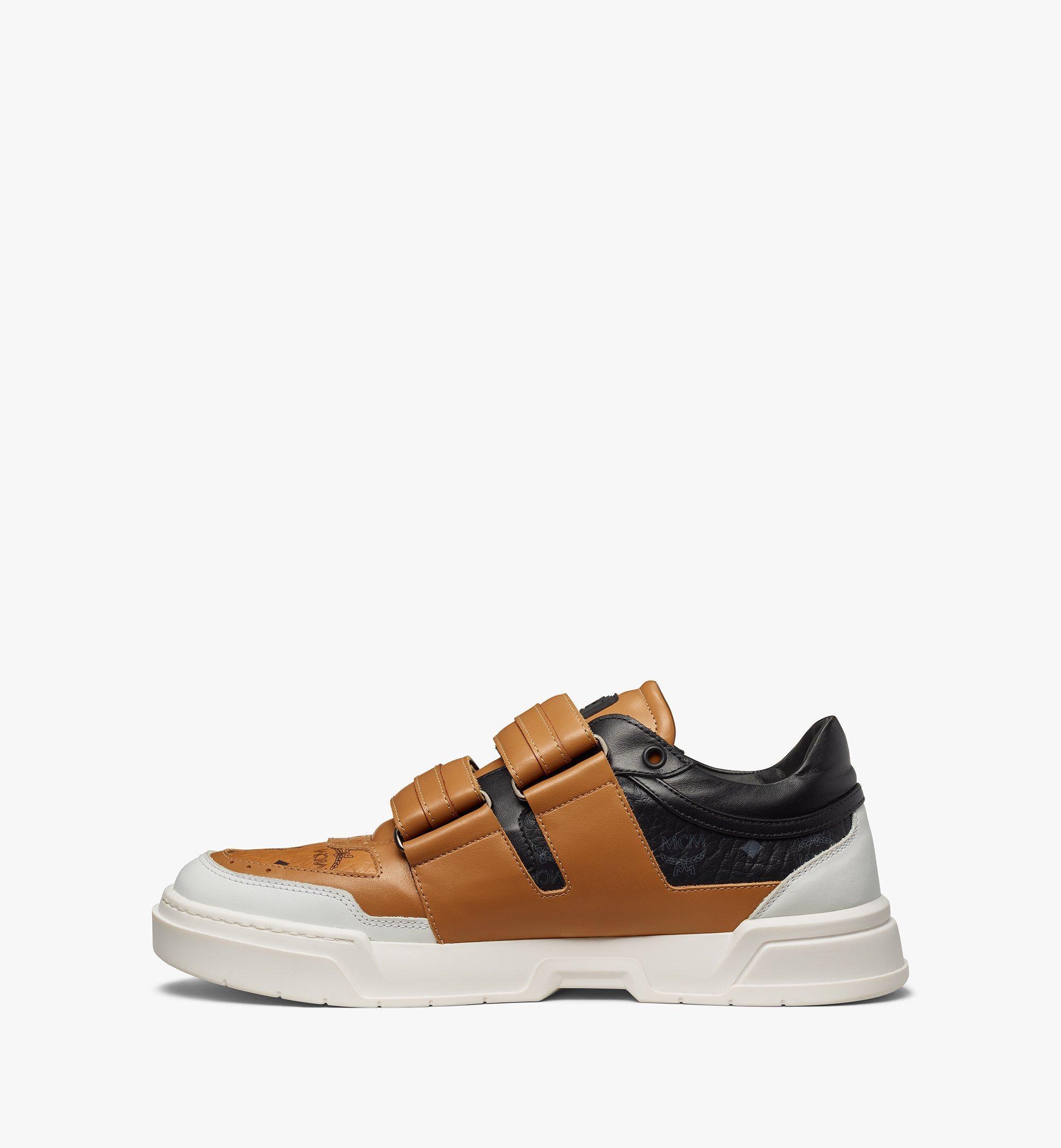 MCM Men's Skyward Velcro Lo Sneakers in Visetos Cognac MEXBSMM01CO040 Alternate View 1