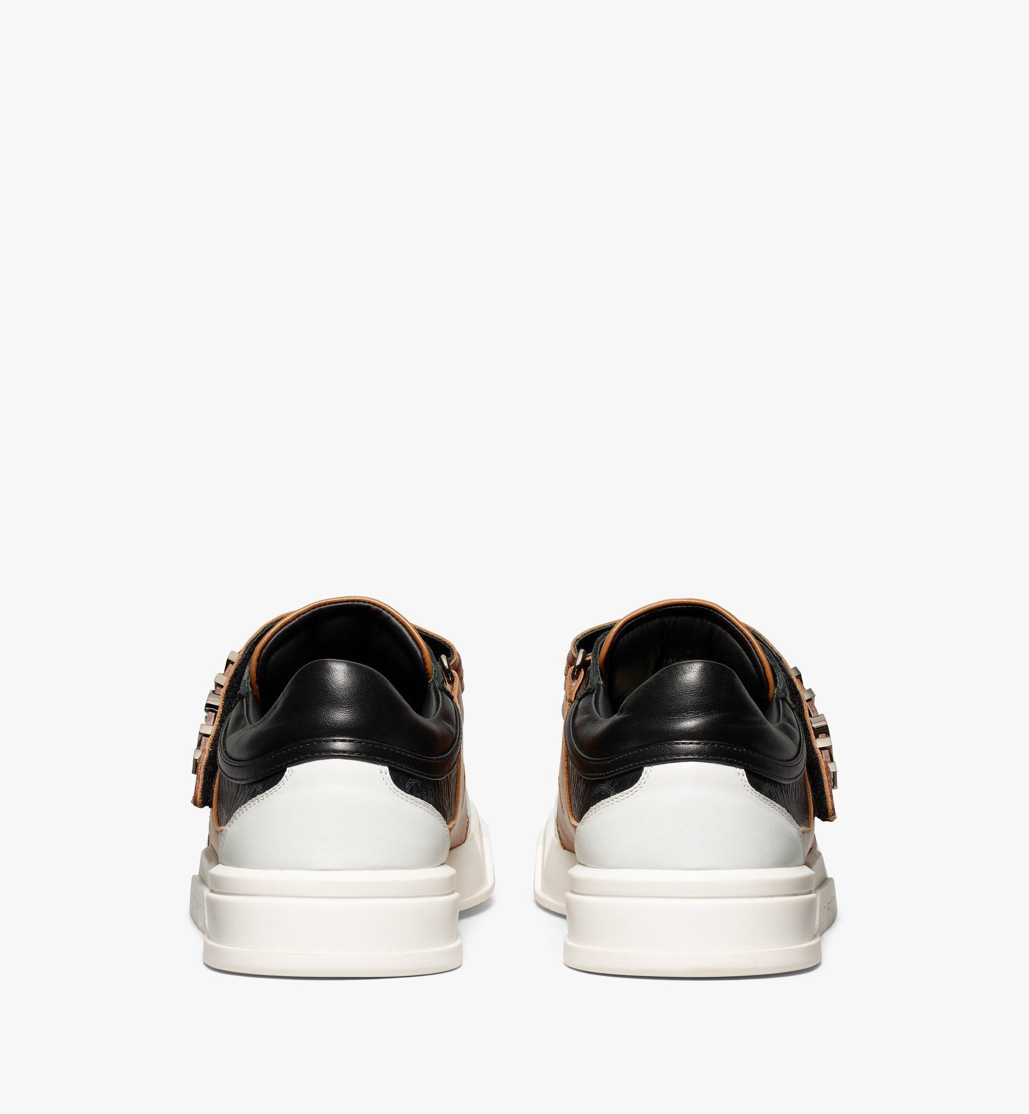 MCM Men's Skyward Velcro Lo Sneakers in Visetos Cognac MEXBSMM01CO040 Alternate View 2
