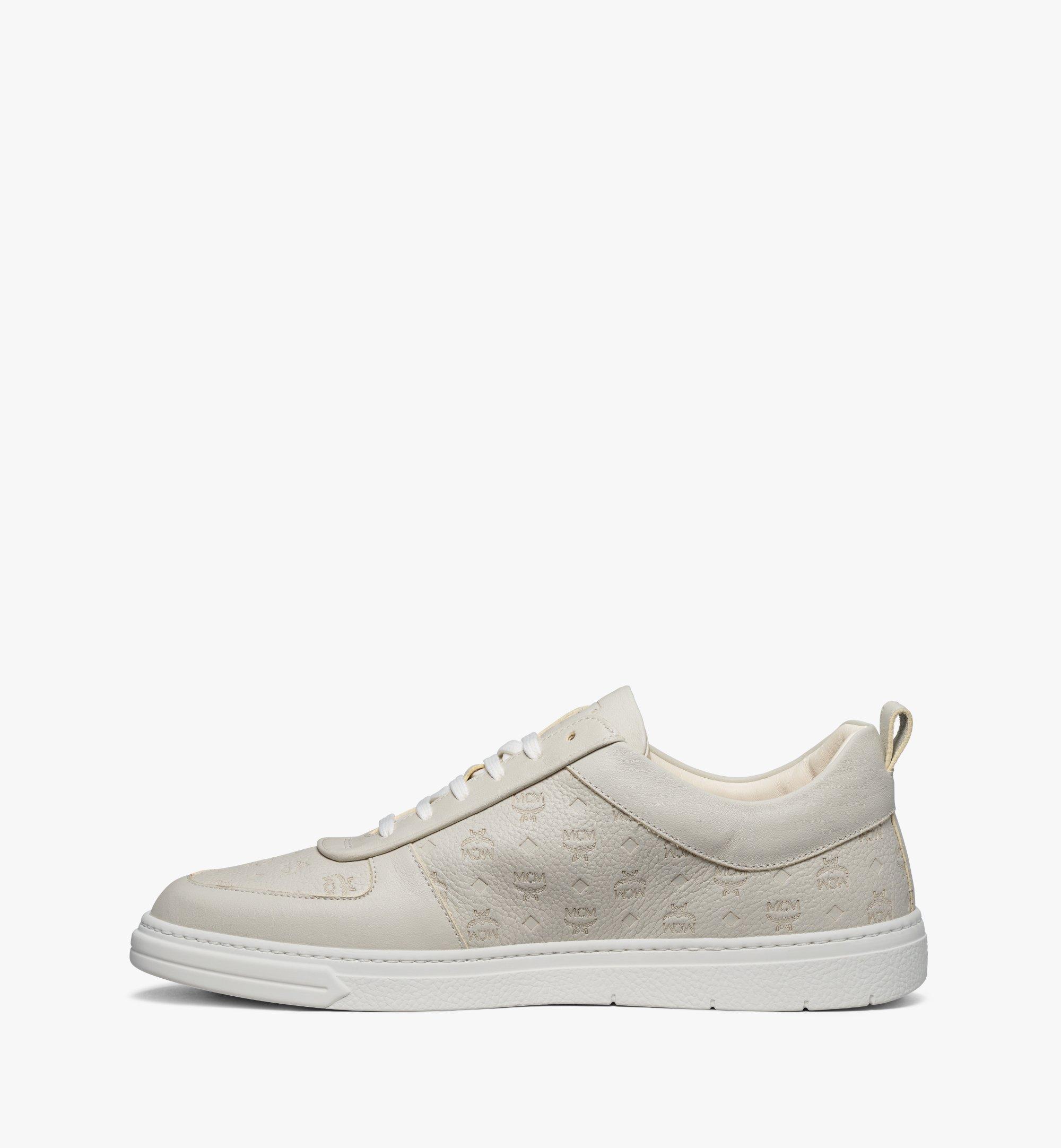 MCM Nachhaltiger Terrain Low-Top-Sneaker aus Leder mit Monogramm für Herren Grey MEXBSMM04EG040 Noch mehr sehen 1