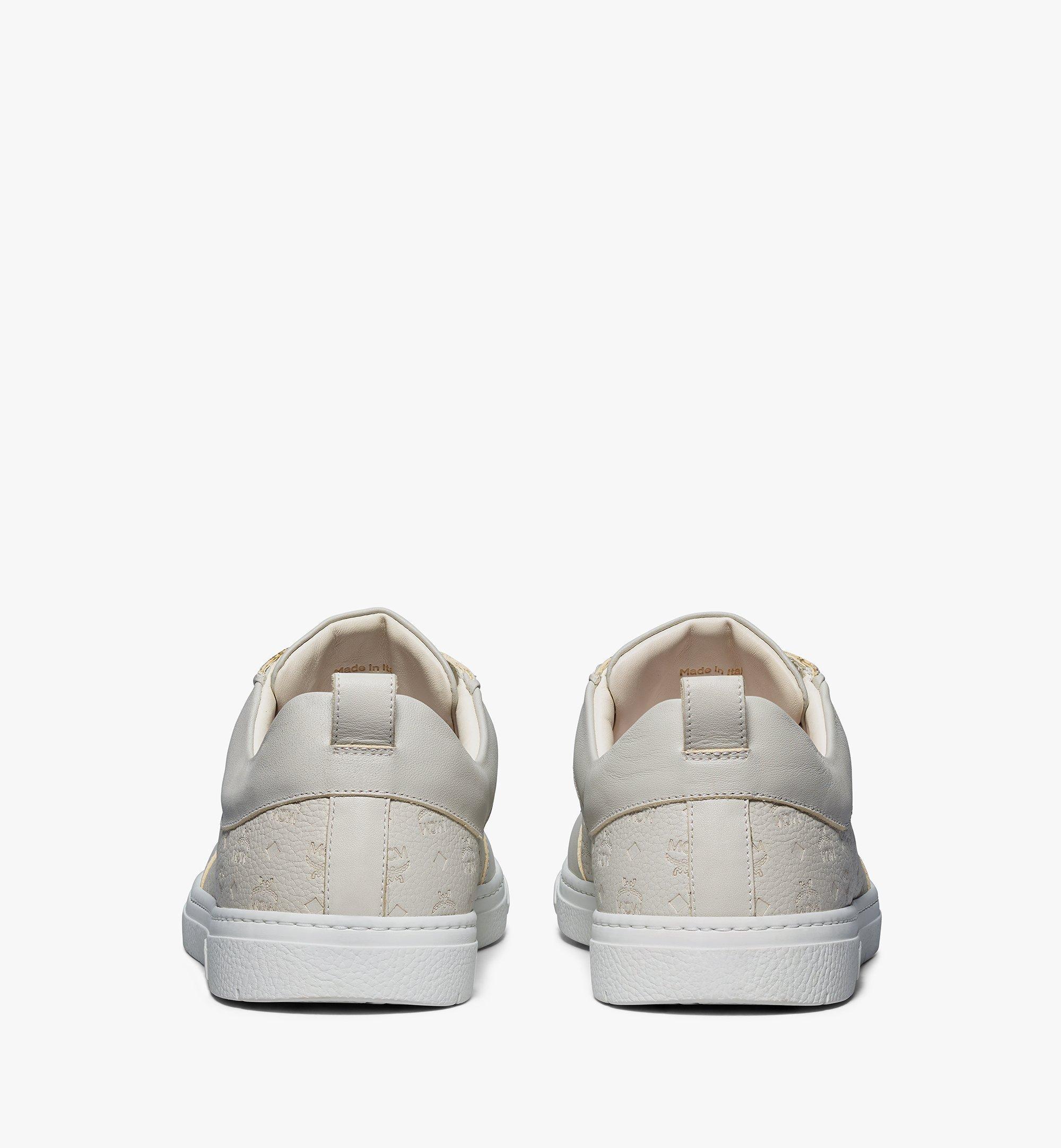 MCM Nachhaltiger Terrain Low-Top-Sneaker aus Leder mit Monogramm für Herren Grey MEXBSMM04EG040 Noch mehr sehen 2