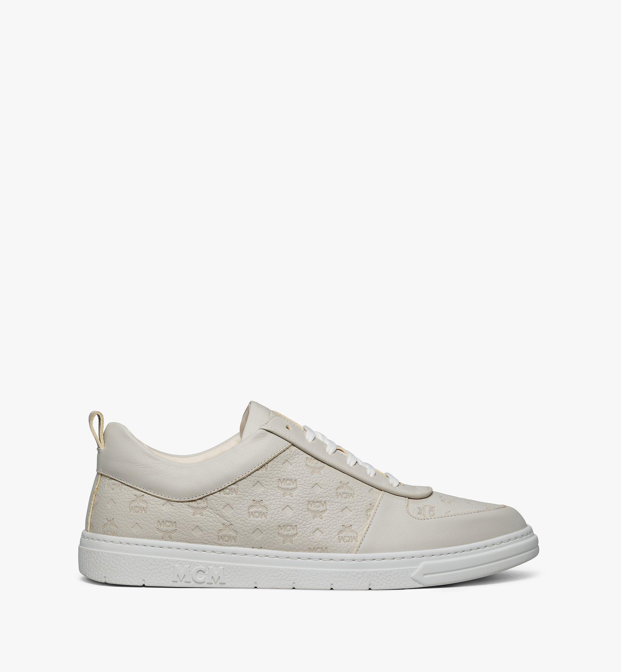 MCM Nachhaltiger Terrain Low-Top-Sneaker aus Leder mit Monogramm für Herren Grey MEXBSMM04EG040 Noch mehr sehen 3