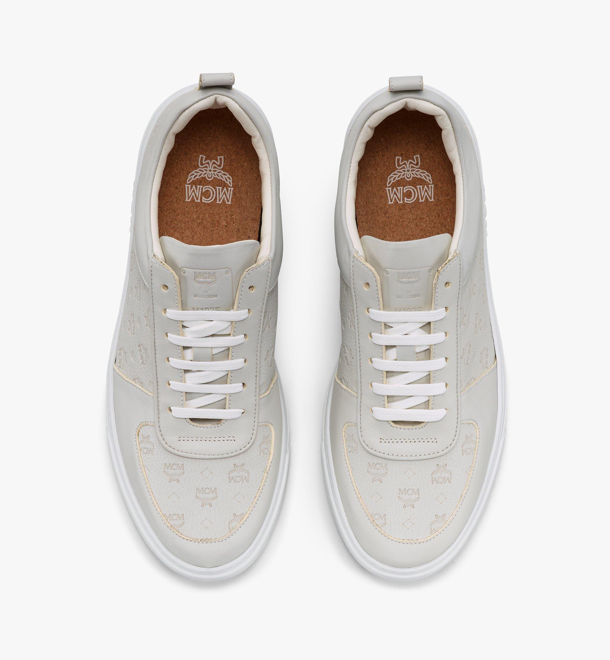 MCM Nachhaltiger Terrain Low-Top-Sneaker aus Leder mit Monogramm für Herren Grey MEXBSMM04EG040 Noch mehr sehen 4