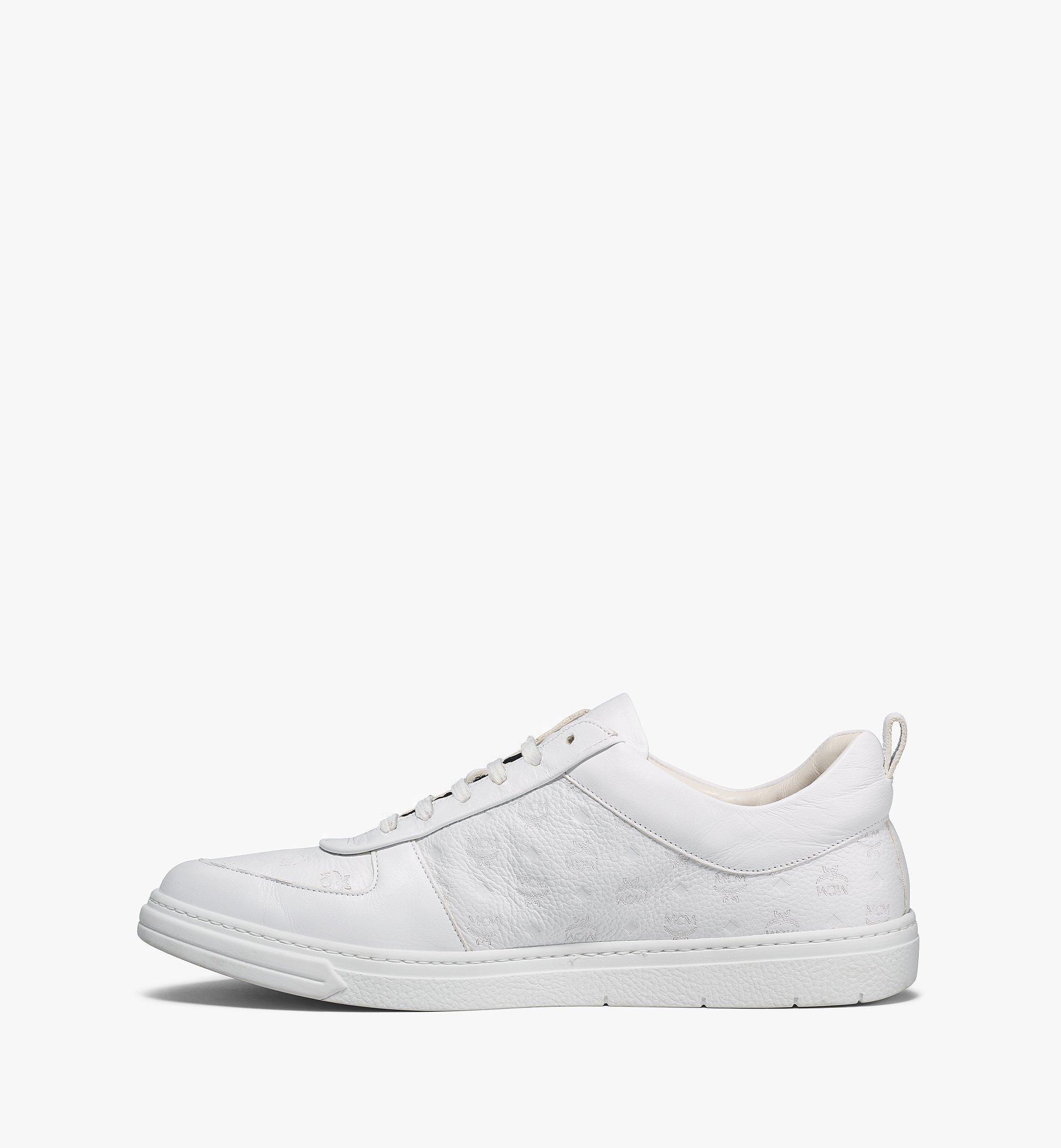 MCM Nachhaltiger Low-Top-Sneaker Terrain aus Leder mit Monogramm für Herren White MEXBSMM04WT043 Noch mehr sehen 1