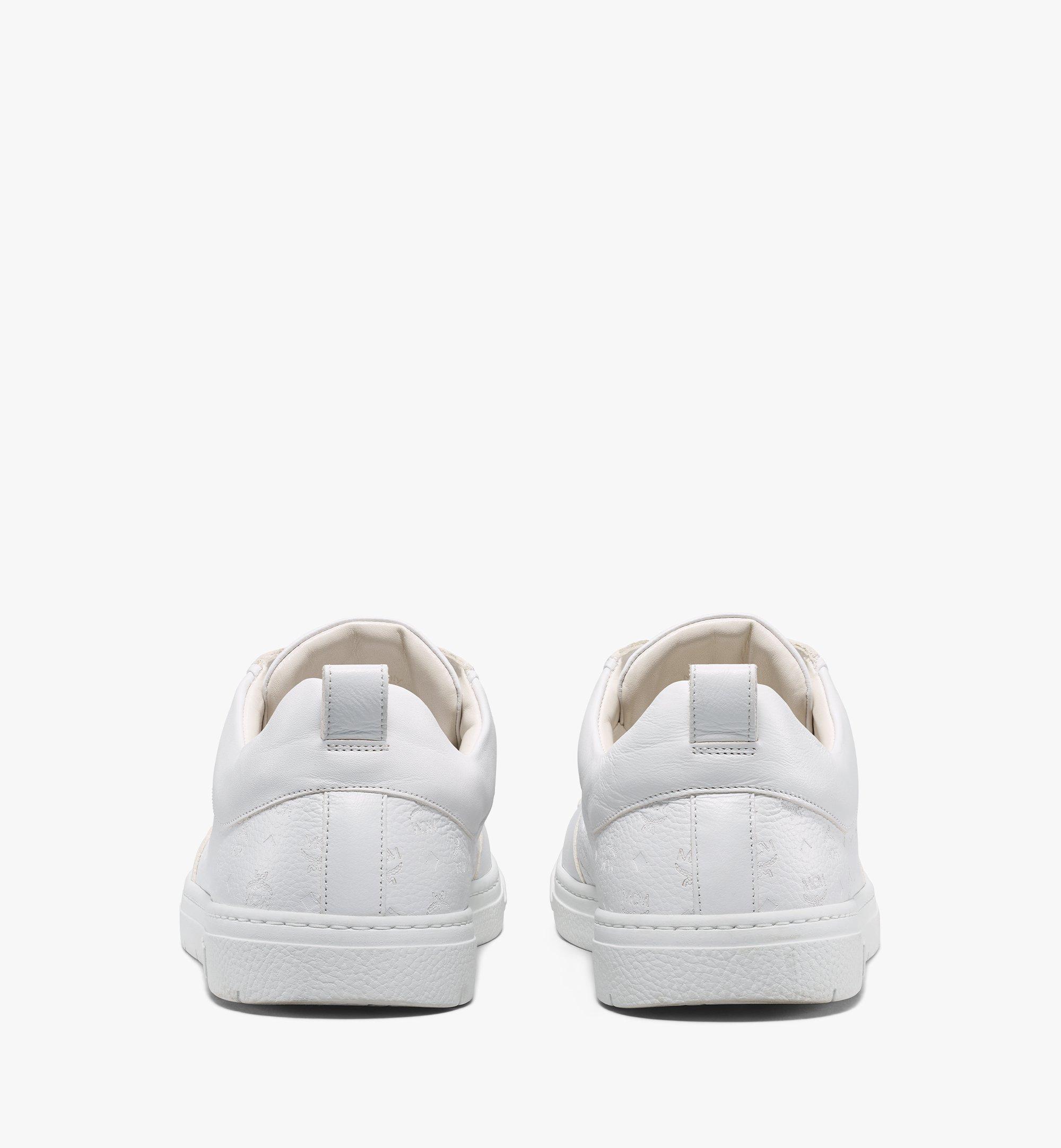 MCM Nachhaltiger Low-Top-Sneaker Terrain aus Leder mit Monogramm für Herren White MEXBSMM04WT043 Noch mehr sehen 2
