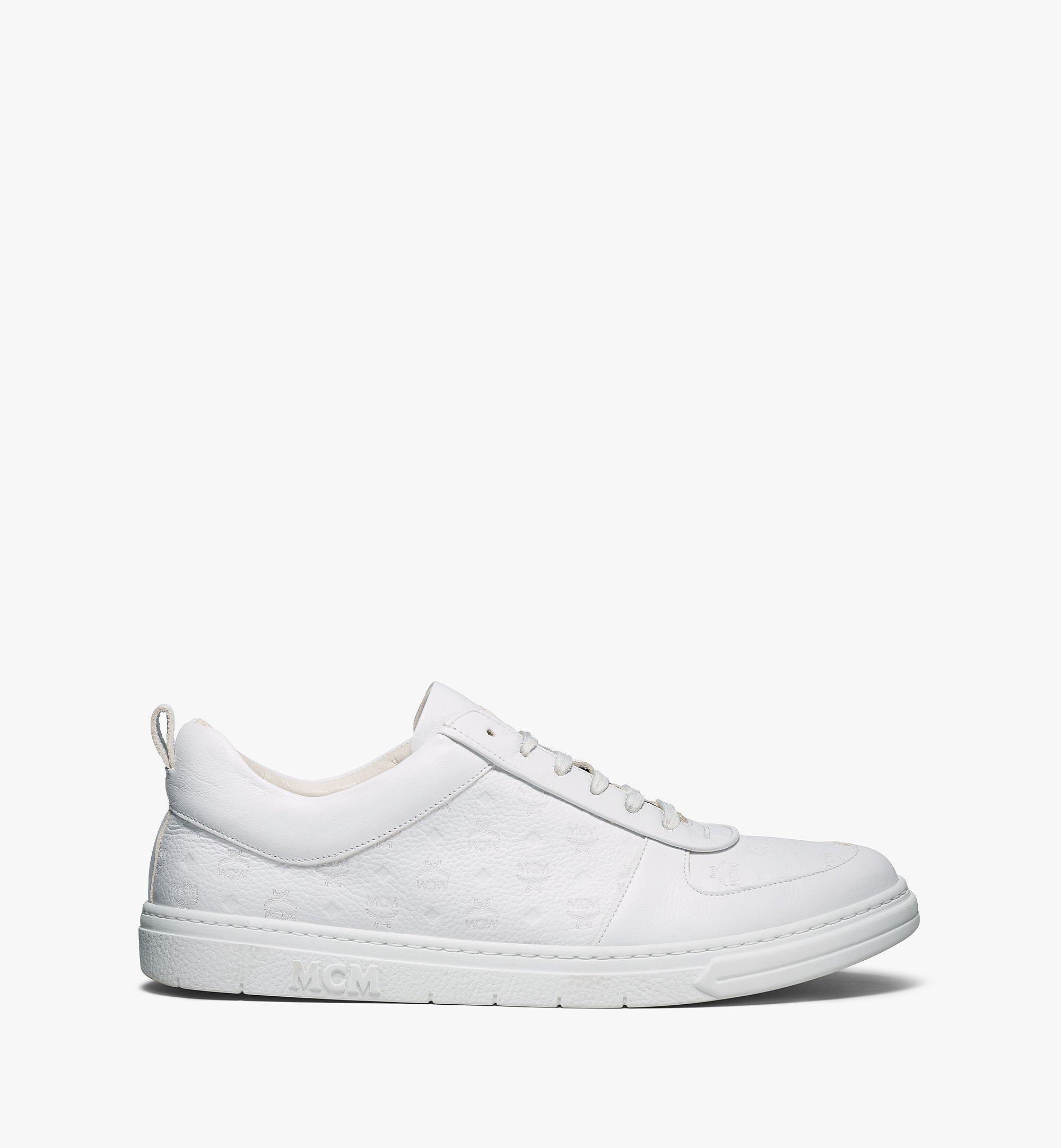 MCM Nachhaltiger Low-Top-Sneaker Terrain aus Leder mit Monogramm für Herren White MEXBSMM04WT043 Noch mehr sehen 3