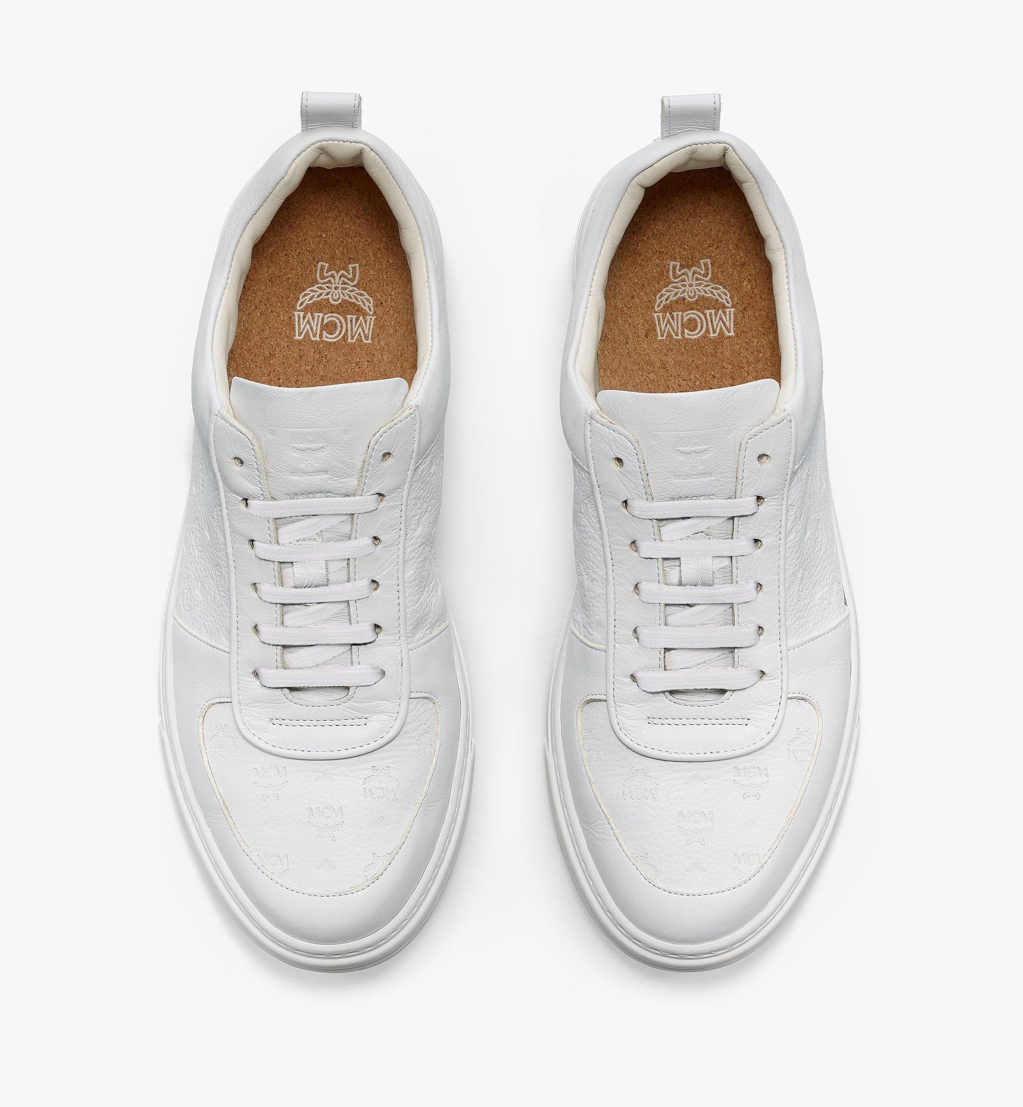 MCM Nachhaltiger Low-Top-Sneaker Terrain aus Leder mit Monogramm für Herren White MEXBSMM04WT043 Noch mehr sehen 4