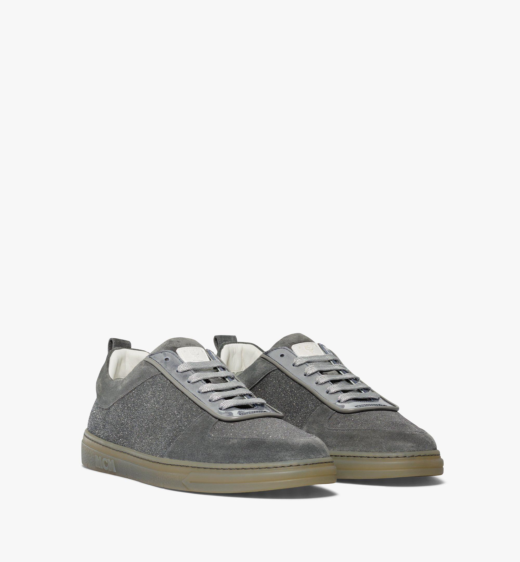 MCM Men's Terrain Lo Sneakers in Multi-Suede Leather Grey MEXBSMM06EO041 Alternate View 1