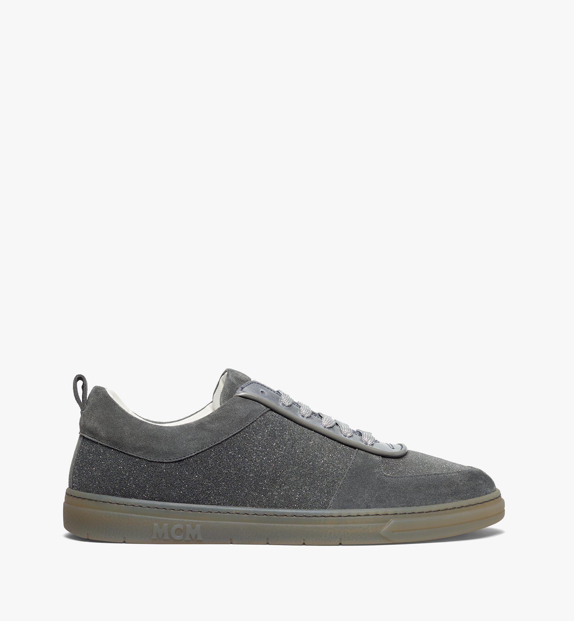 MCM Men's Terrain Lo Sneakers in Multi-Suede Leather Grey MEXBSMM06EO041 Alternate View 3