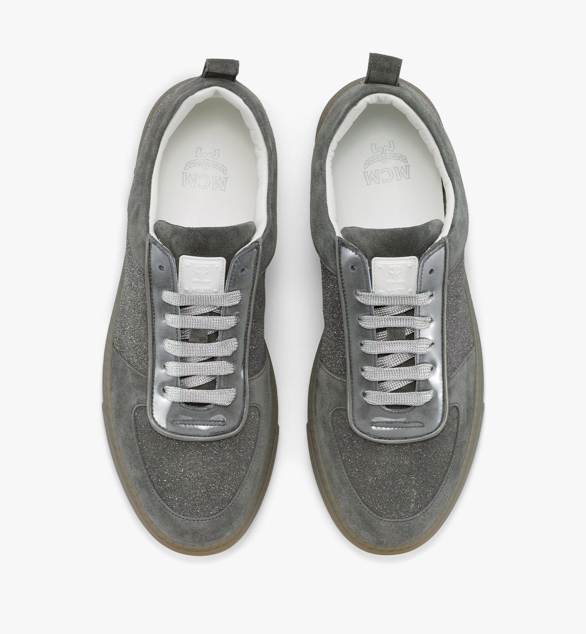 MCM Men's Terrain Lo Sneakers in Multi-Suede Leather Grey MEXBSMM06EO041 Alternate View 4