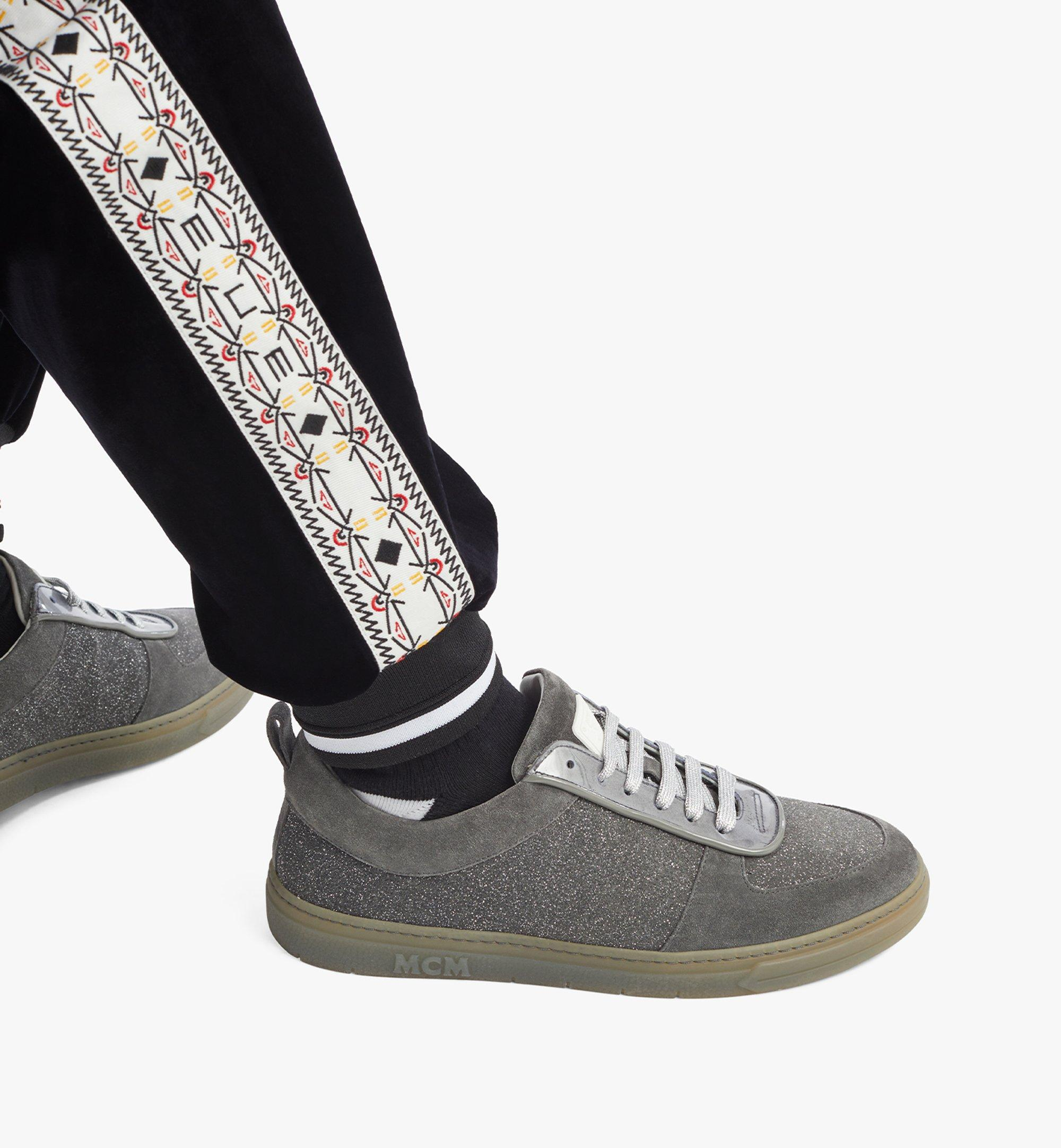 MCM Men's Terrain Lo Sneakers in Multi-Suede Leather Grey MEXBSMM06EO041 Alternate View 2