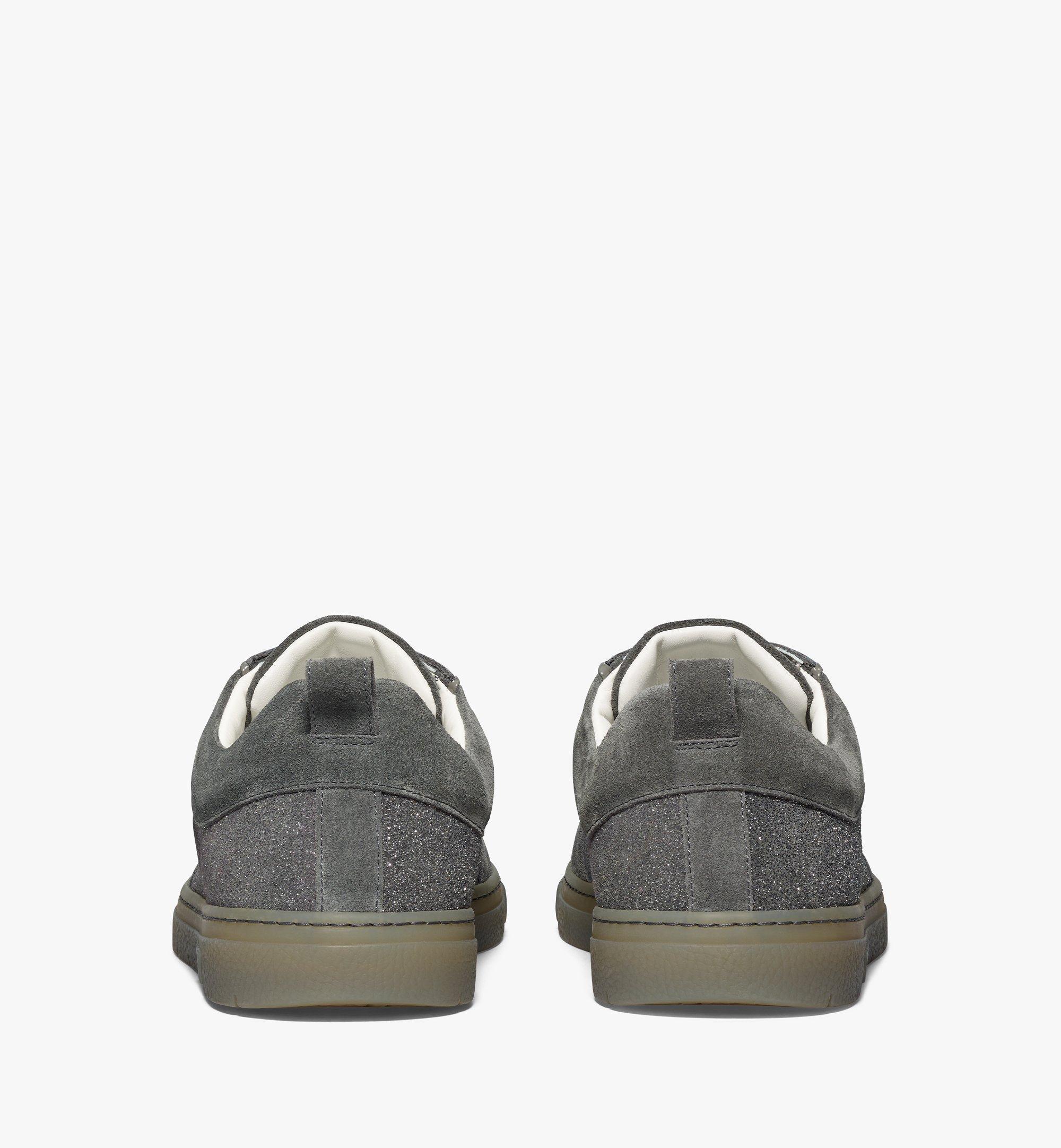MCM Men's Terrain Lo Sneakers in Multi-Suede Leather Grey MEXBSMM06EO042 Alternate View 2