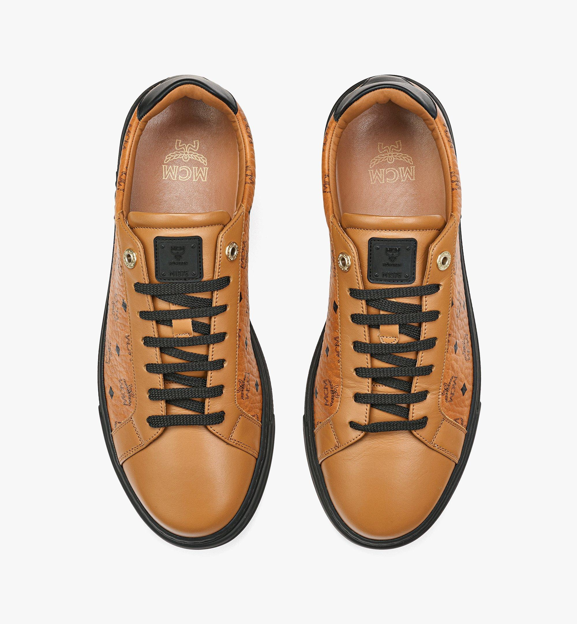 MCM Men's Color Block Terrain Lo Sneakers in Visetos Black MEXCSMM02BK041 Alternate View 4