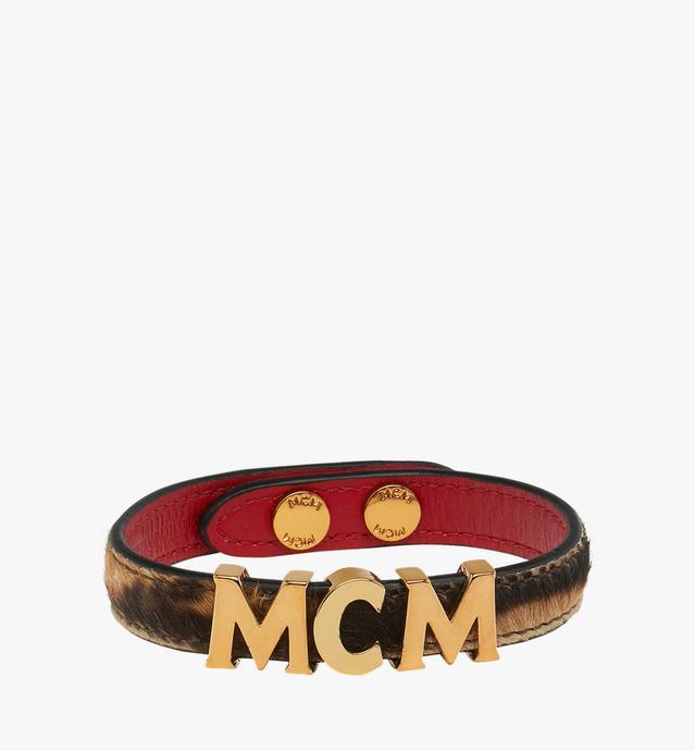 リバーシブル MCM レター ブレスレット レオパードヘアカーフ