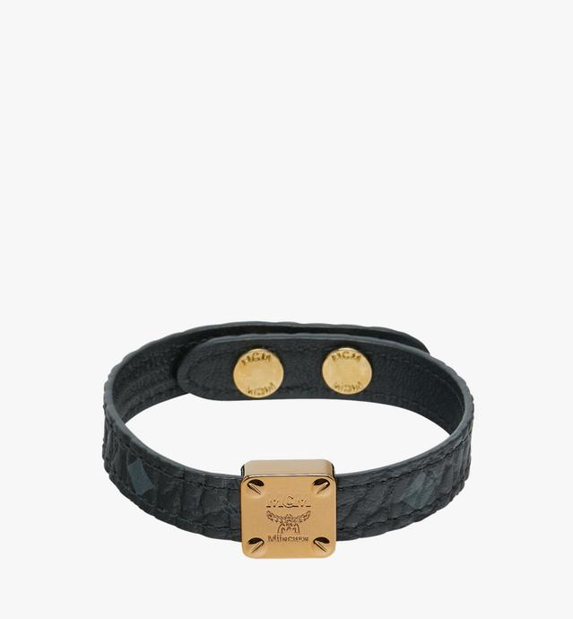 Reversible Logo Plate Bracelet in Visetos