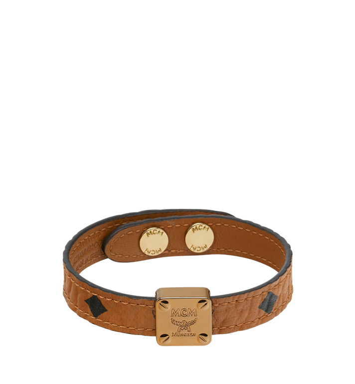MCM Reversible Logo Plate Bracelet in Visetos MEZ8AMM02CO001 AlternateView