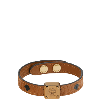 MCM Reversible Logo Plate Bracelet in Visetos Alternate View