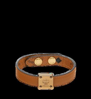 MCM Reversible Logo Plate Bracelet in Visetos Alternate View 2