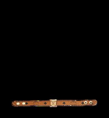 MCM Reversible Logo Plate Bracelet in Visetos Alternate View 3
