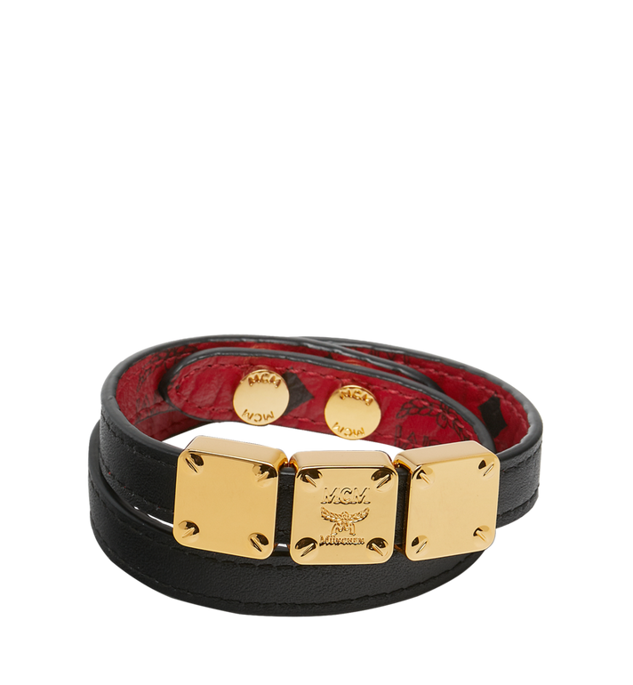 MCM (MCM)RED Double Wrap Bracelet in Visetos MEZ8AMM06RU001 AlternateView2