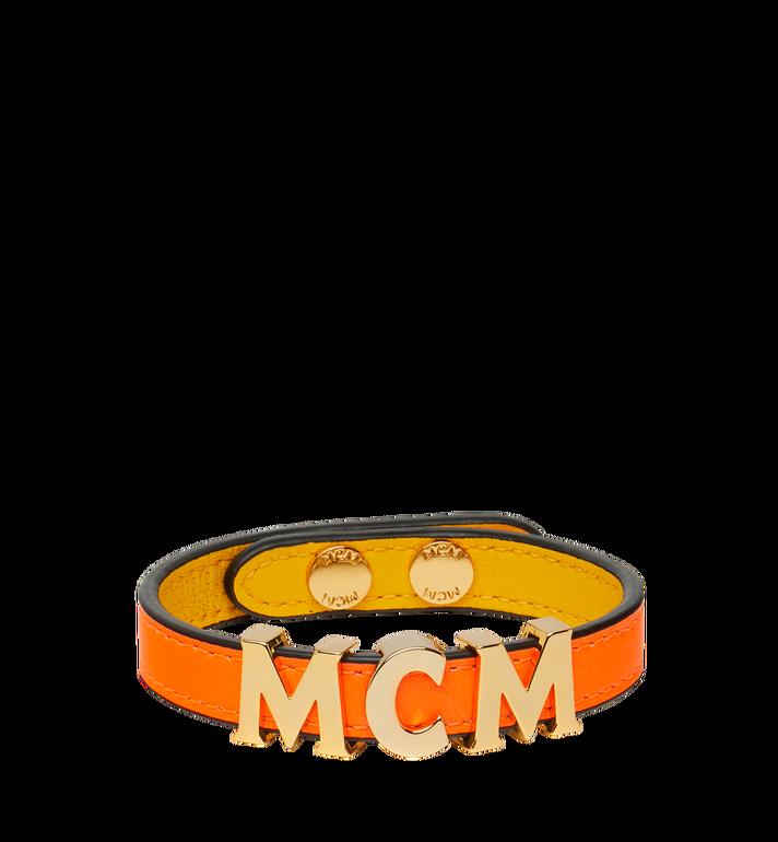 MCM リバーシブル レター ブレスレット レザー Alternate View