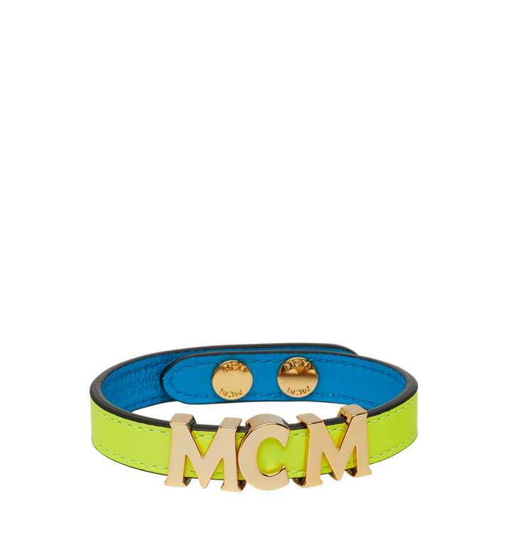 MCM Reversible Letter Bracelet in Leather Alternate View