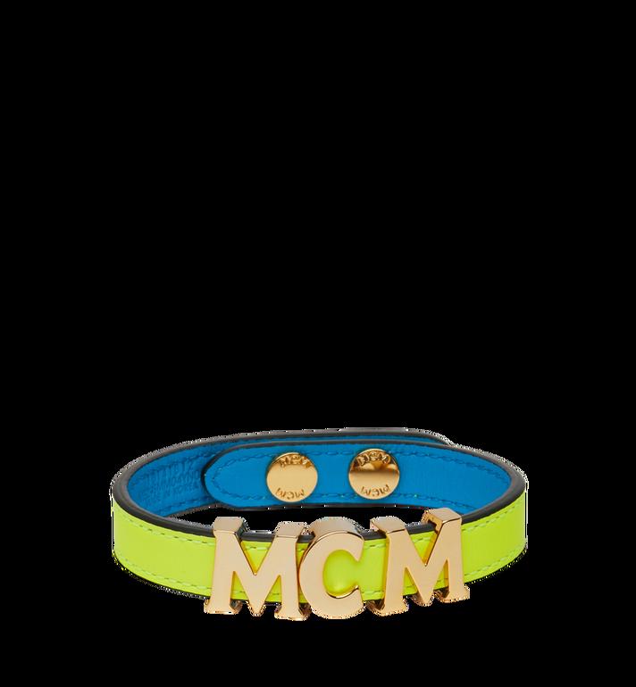 MCM Reversible Letter Bracelet in Leather AlternateView