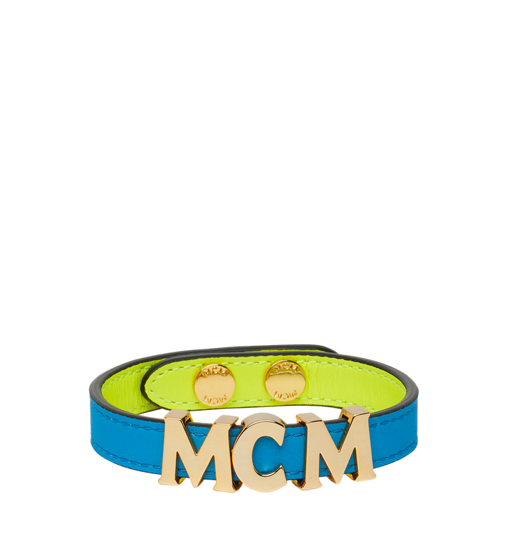 MCM Reversible Letter Bracelet in Leather Alternate View 2