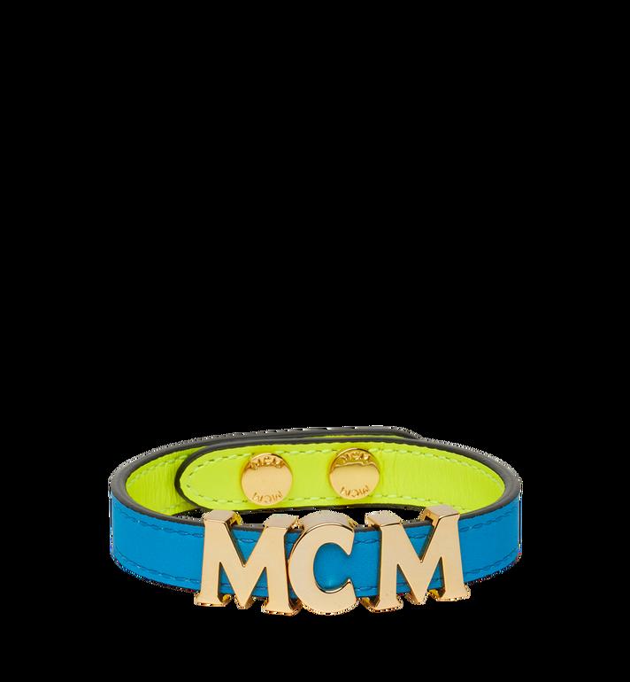 MCM Reversible Letter Bracelet in Leather AlternateView2