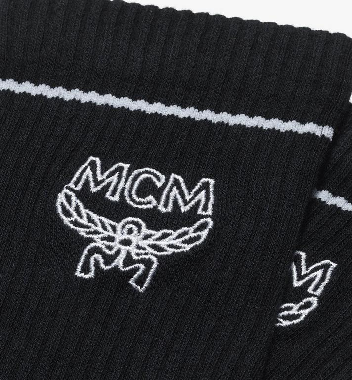 MCM Classic Logo Cotton Socks  MEZASBM01BK0SM Alternate View 2