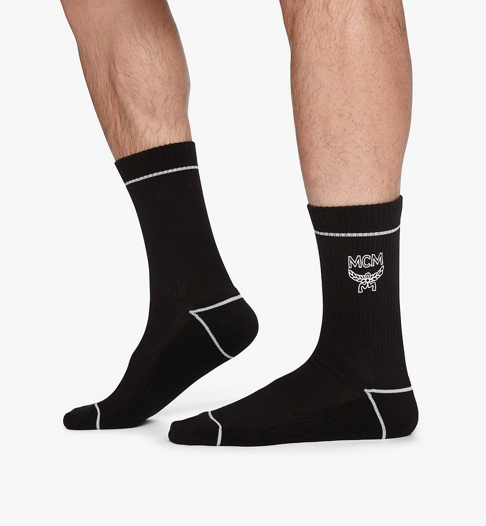 MCM 經典標誌綿襪 Black MEZASBM01BK0SM 更多視圖 2