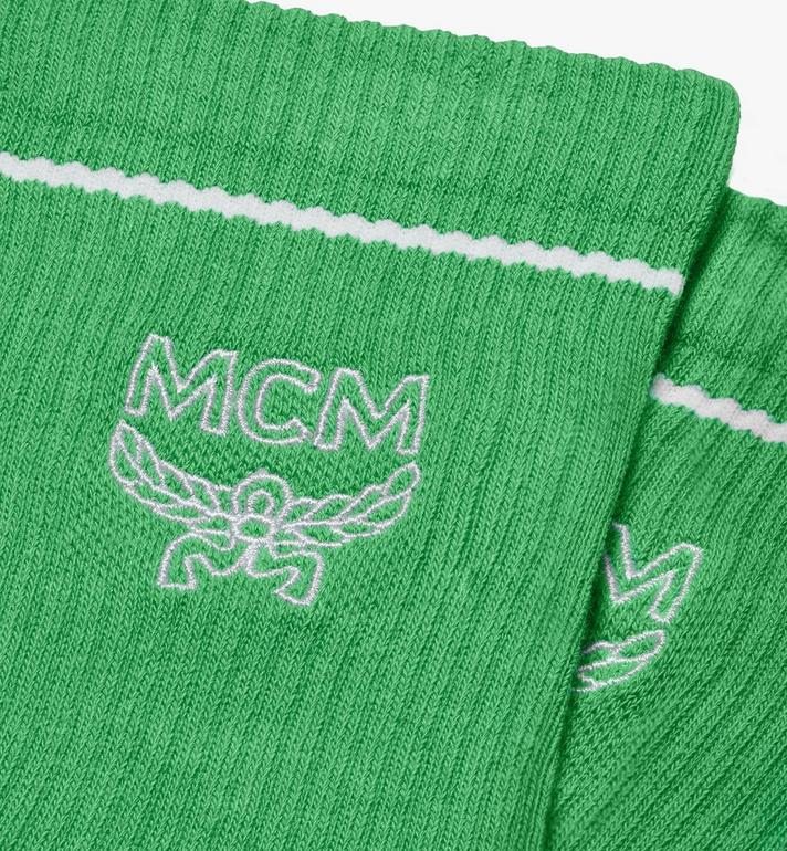 MCM Classic Logo Cotton Socks  MEZASBM01GR0ML Alternate View 2