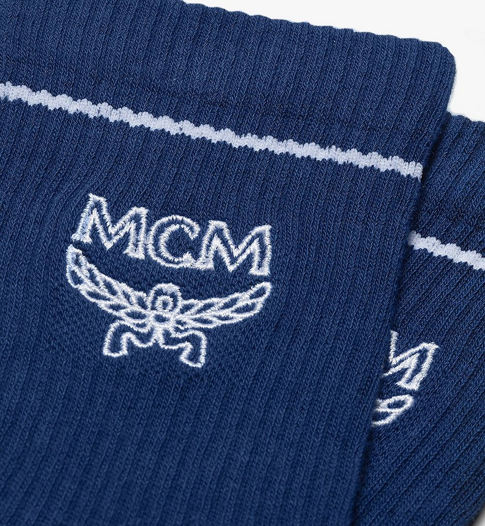 MCM 經典標誌綿襪 Blue MEZASBM01LU0SM 更多視圖 1