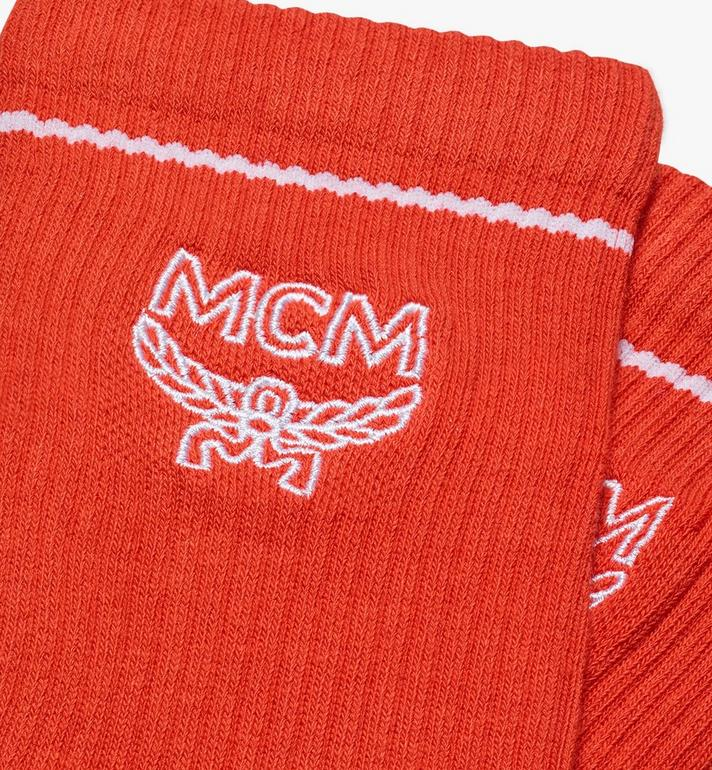 MCM Classic Logo Cotton Socks Orange MEZASBM01OR0ML Alternate View 2