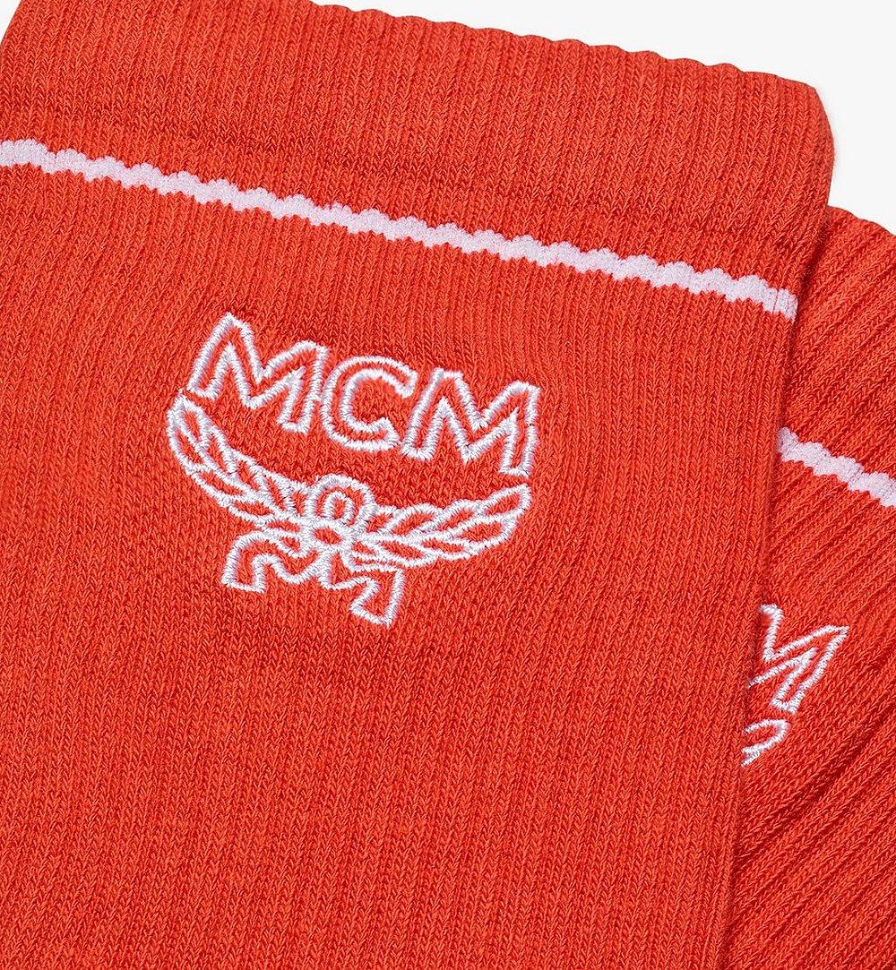MCM Classic Logo Cotton Socks Orange MEZASBM01OR0SM Alternate View 1