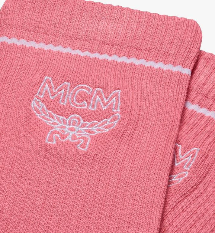 MCM Chaussettes classiques en coton à imprimé logo  MEZASBM01PK0SM Alternate View 2