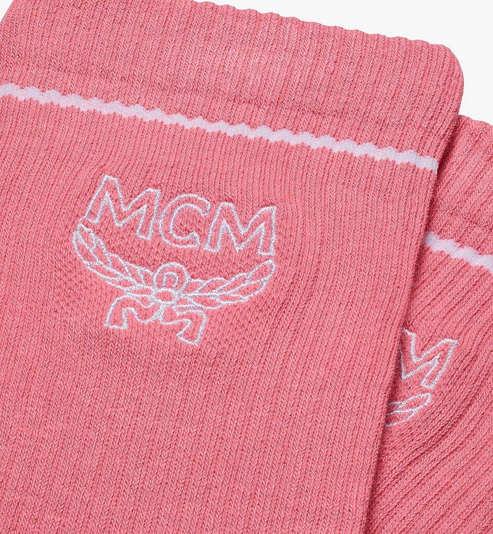 MCM Classic Logo Cotton Socks Pink MEZASBM01PK0SM Alternate View 1