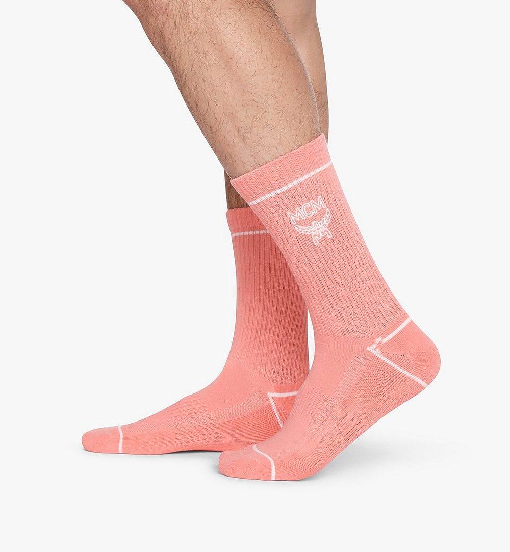MCM 經典標誌綿襪 Pink MEZASBM01PK0SM 更多視圖 2