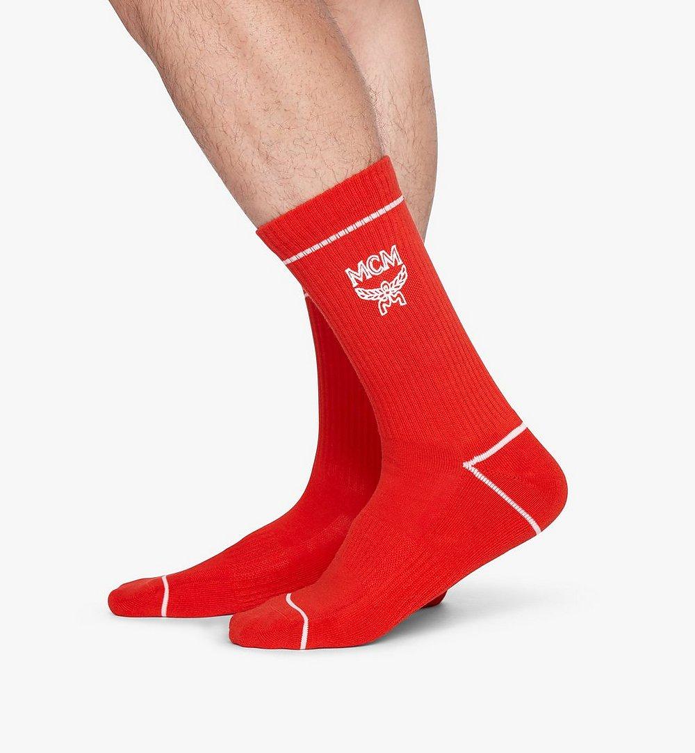 MCM 經典標誌綿襪 Red MEZASBM01RE0SM 更多視圖 2