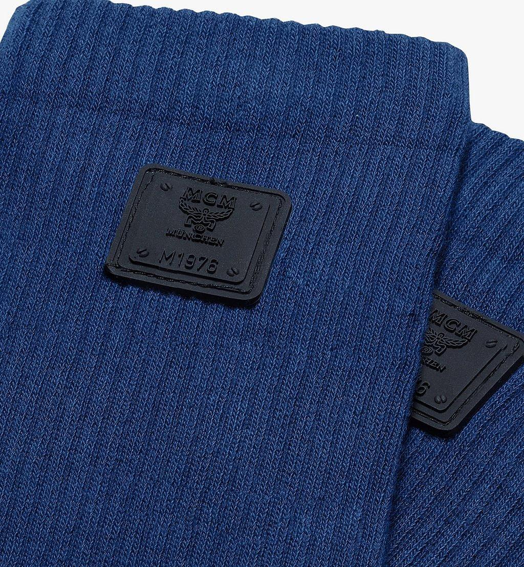 MCM 1976 Logo Plate Socks Blue MEZASBM02LU0ML Alternate View 1