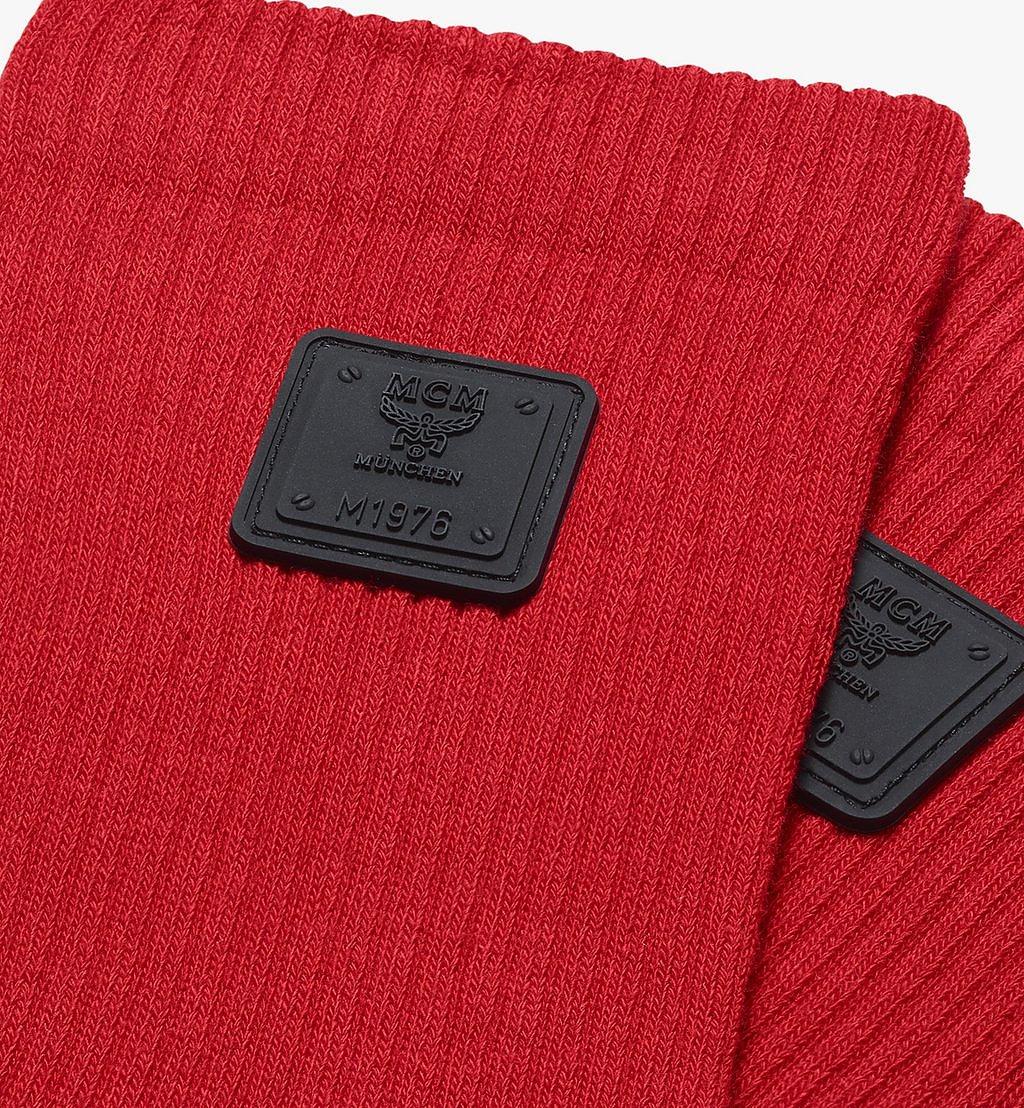 MCM 1976 Logo Plate Socks Red MEZASBM02RE0ML Alternate View 1