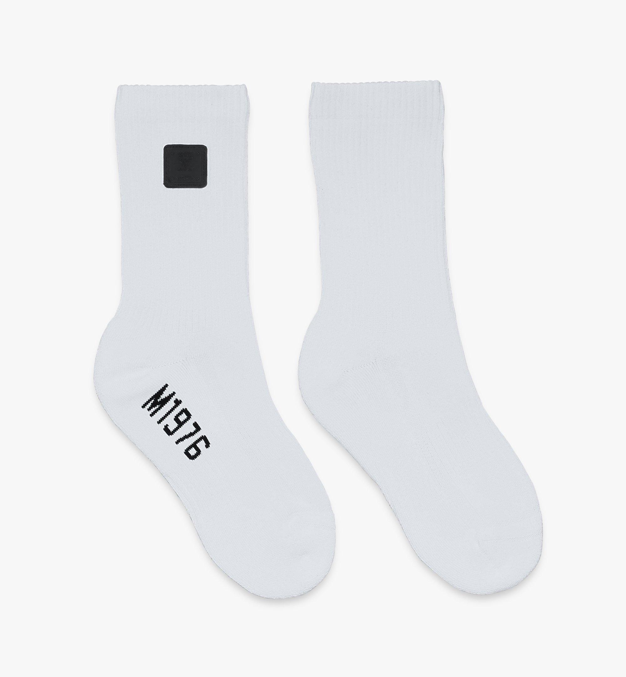 MCM 1976 Logo Plate Socks  MEZASBM02WT0ML Alternate View 1