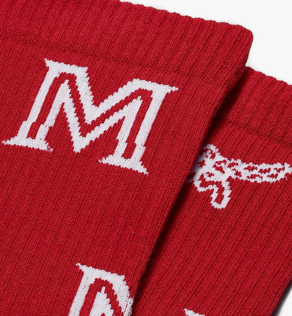 MCM 經典印花綿襪 Red MEZASBM03RE0ML 更多視圖 1