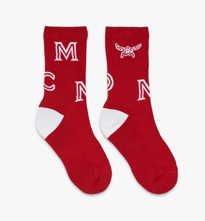 MCM Chaussettes classiques en coton à imprimé logo Alternate View