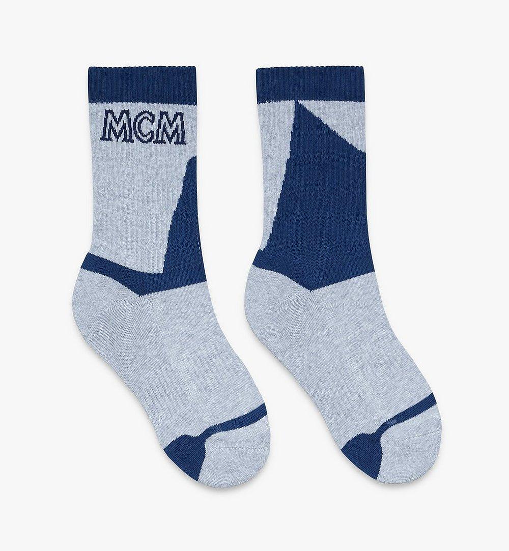 MCM 拼色綿襪 Grey MEZASBM04EG0ML 更多視圖 1